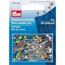 Prym 029265 (K) Spilli contesta in vetro colorati
