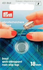 Prym 431864 (F) Ditale in zinco testa piatta 18mm