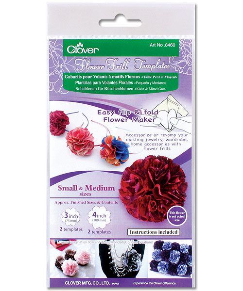 Clover 8460 Flower Frill Templates Small & Medium Size