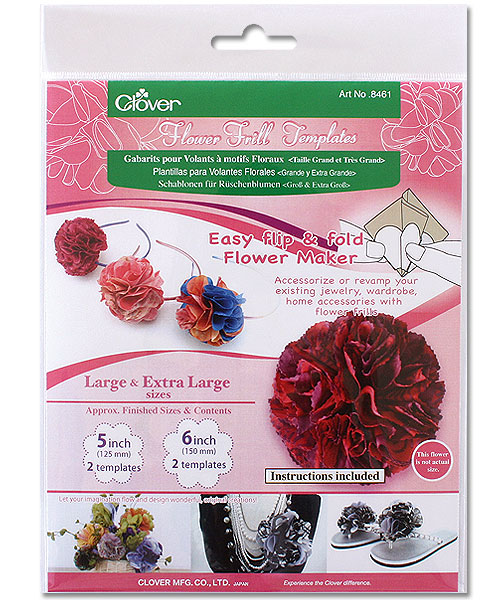 Clover 8461 Flower Frill Templates Large & Extra Large Sizes