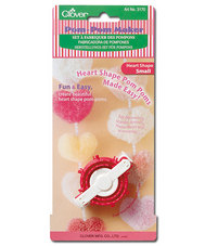 Clover 3170 Heart Shape Pom-Pom maker Small