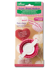 Clover 3171 Heart Shape Pom-Pom maker Large