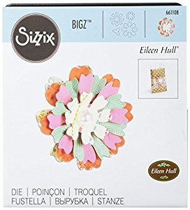 661108 Fustella biz flower, heart & soul Sizzix big Shot