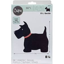 661279 Fustella scottie dog Bigz L Sizzix Big Shot