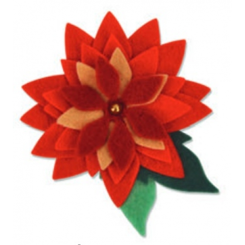 661323 Fustella pretty poinsettia Sizzix Big Shot